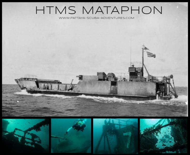 HTMS MATAPHON WRECK ( Pattaya Near Islands)