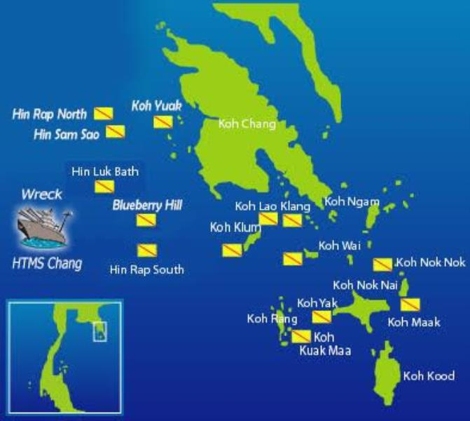 Kohchang Dive Site Map