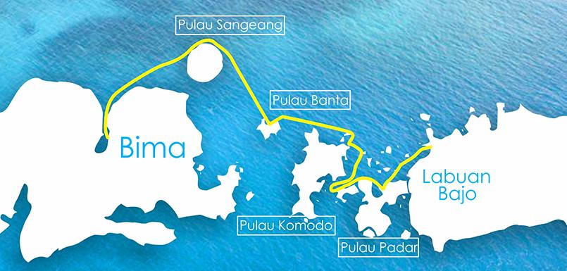 Concise Komodo, Sample route