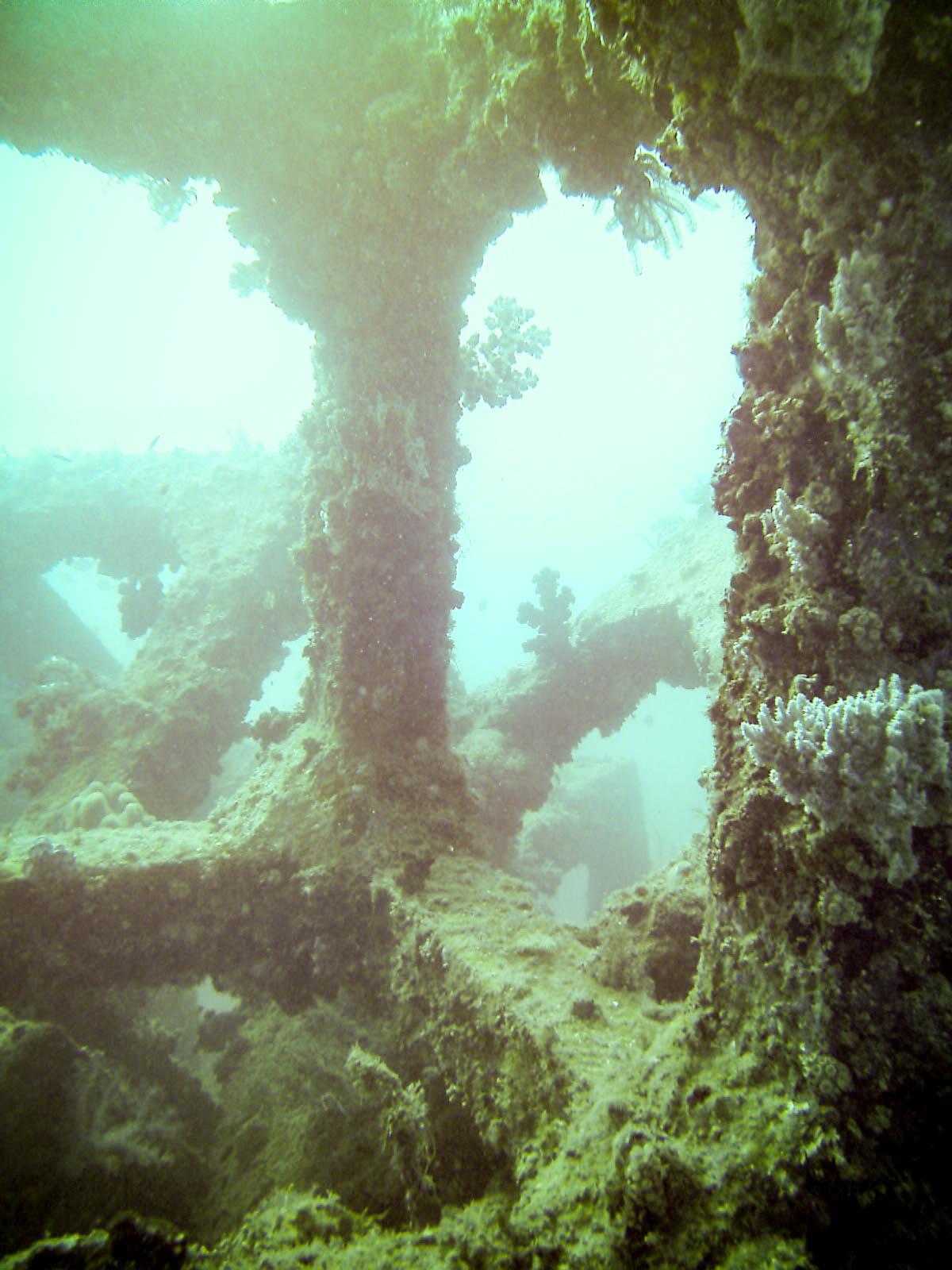 Man Made reef on the east coast of Okinawa Japan