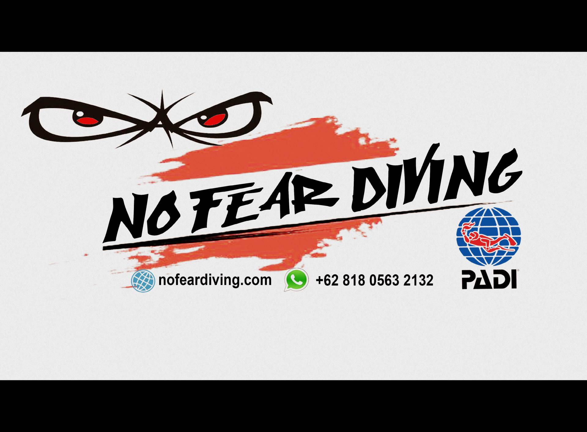 LOGO NO FEAR DIVING AMED BALI SCUBA