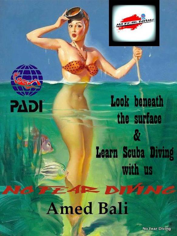 TAUCHEN LERNEN MIT NO FEAR DIVING IN AMED BALI   Our Story... Who we are & what we do..  ENGLISH / GERMAN   PADI-No Fear Diving a scuba dive center / school that is located in Amed, Bali, Indonesia. The school is lead by the German State Approved Ergo- Therapist Oliver Radosav.  No Fear Diving customizes  your scuba diving experience.  We are a specialized dive center for beginner & for people with concerns and fears in context with scuba diving & water. No Fear Diving  puts you, as a diver, with all your individual & personal wishes, handicaps, needs and goals at the center of attention and professional supervision through a PADI Instructor.  Personality, individuality and customer-centricity are the attributes of the No Fear Diving. No Fear Diving is your individual scuba dive course!  A safe way for clients to test themselves in a secure and supervised atmosphere.  We create space to speak about problems, dispel misgivings, rebut and eliminate stress and as a result, to reduce discomfort, anxiousness. Come & learn scuba diving with us in Amed Bali.!!! Contact us Souldives@gmail.com / WA +62 818-0563-2132   GERMAN............................................................................  No Fear Diving ist eine deutsche Tauchschule in Amed, Bali, Indonesien unter der Leitung des Staatlich anerkannten Ergotherapeuten Oliver Radosav. No Fear Diving is eine spezialisiertes Tauchschule für Anfänger,  Kinder & für Menschen mit Ängsten.  Wir gehen detailliert auf Bedenken und Ängsten von Menschen ein. Bei uns stehst Du als Taucher selbst, im Mittelpunkt des Kurses, mit deinen Bedürfnissen, Bedenken, Einschränkungen, Möglichkeiten und Zielen. Unser PADI-No Fear Diving Tauchschule ist klientenzentriert gestaltet und betont somit Deine individuellen Bedürfnisse als Taucher und Mensch.  Persönlichkeit, Individualität und Kunden- Zentriertheit sind die Attribute von No Fear Diving.  PADI No Fear Diving  stellt eine gute und sichere Möglichkeit für Dich als Tauchkunden dar,