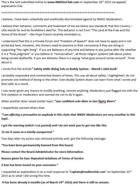 NWDiveClub-discrimination-against-MarekSk