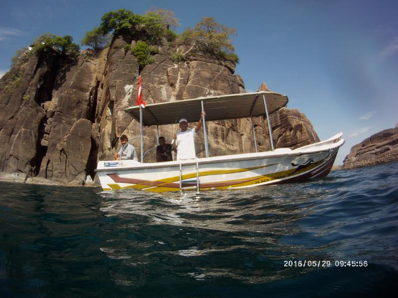 Our dive boat