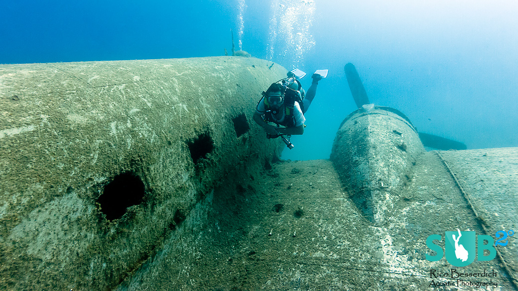 A very different style of exploring an airplane - exclusive for divers only!