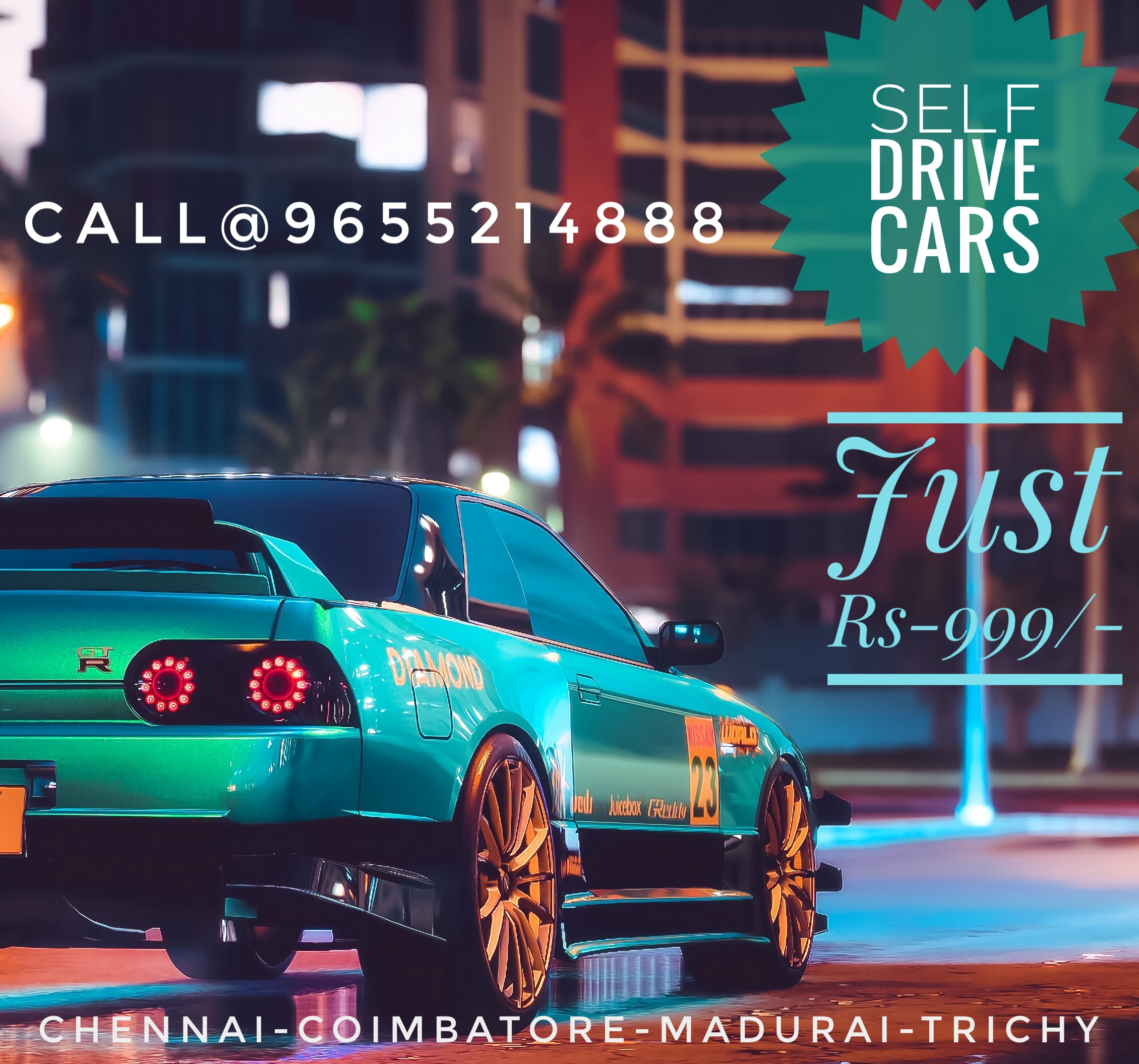 Are you looking for the best self driven car rentals in Chennai and outstation at an affordable cost? We are the top in offering all types of car models at the best price in all the local areas of Chennai.