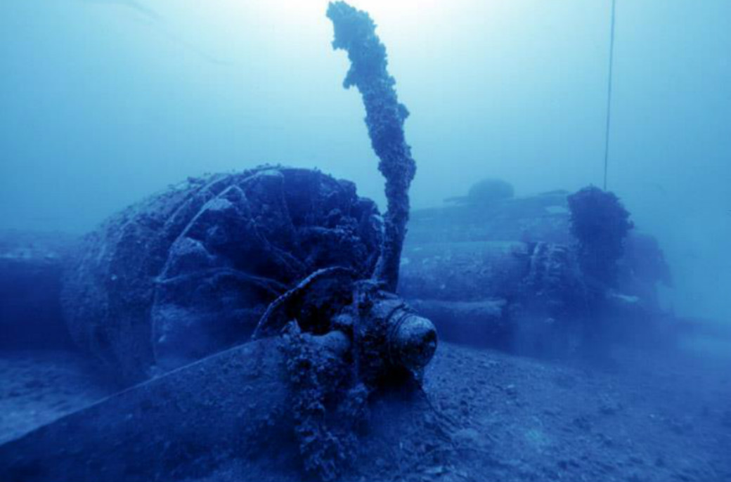 There is also the Boeing B-17 Flying Fortress plane wreck that crashed into the Adriatic in 1944.
