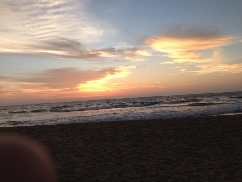 Sunset at our Negombo centre!