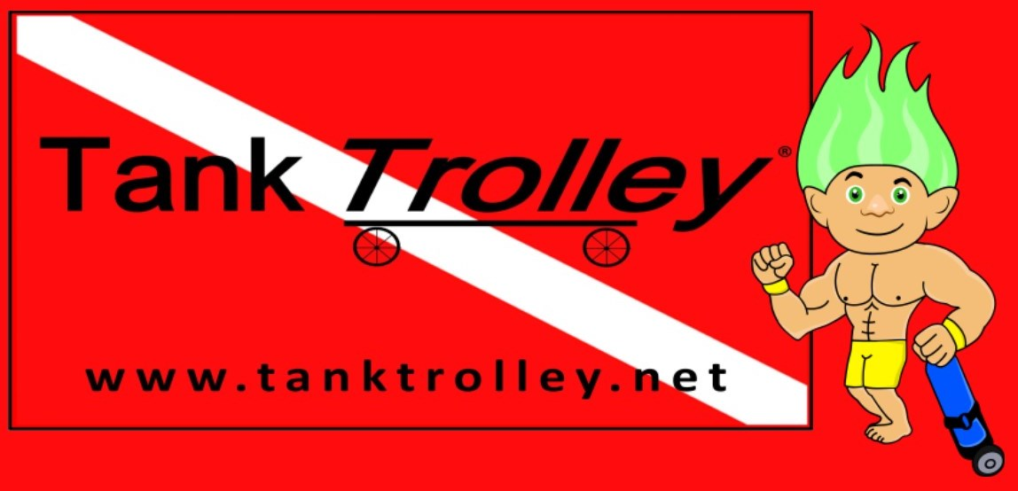 Check out the new easy way to carry a scuba tank www.tanktrolley.net
