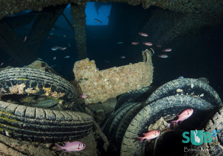 Tires in the Hold of the SS Thistlegorm