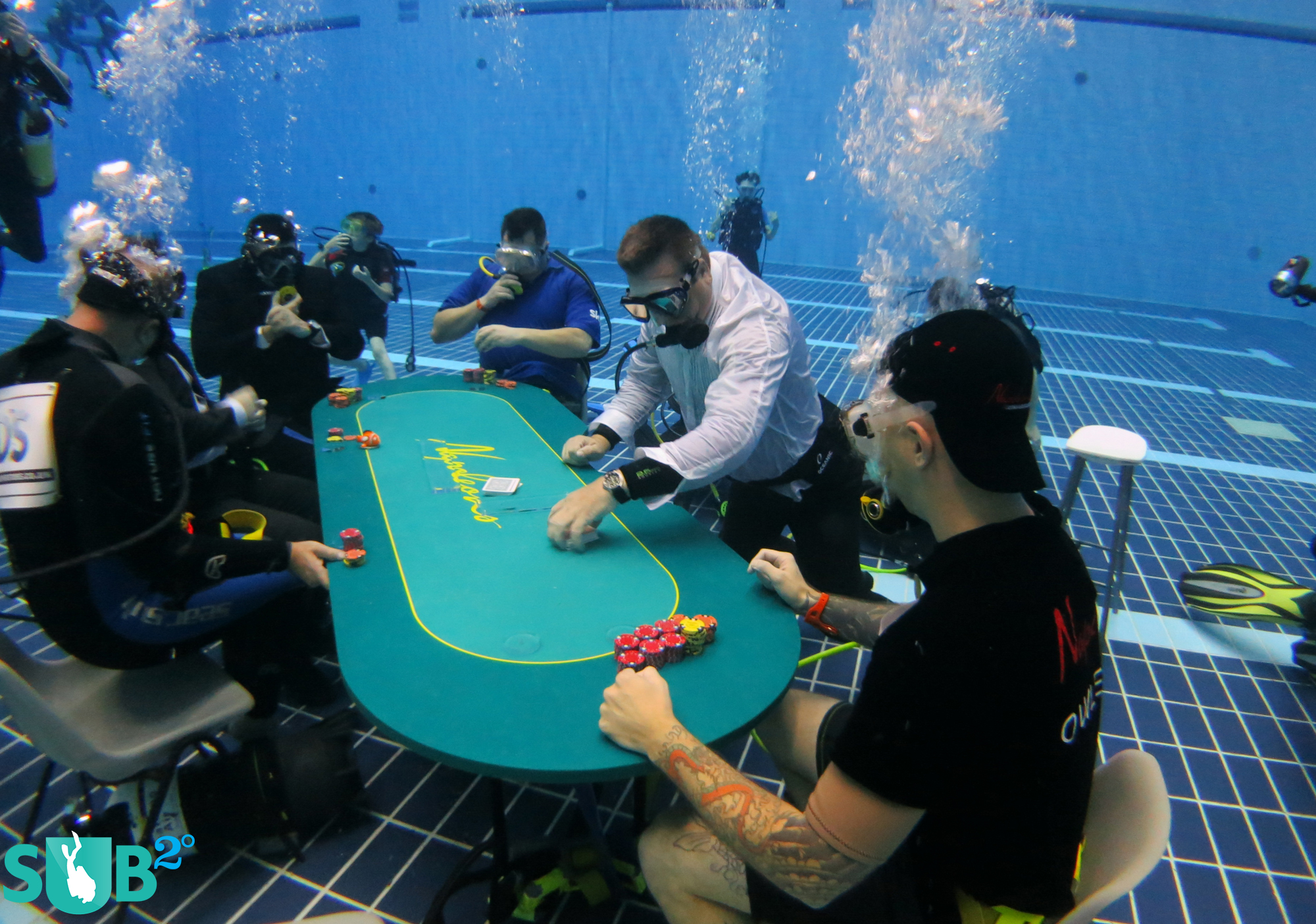 Divers are becoming more diverse when it comes to their passion, and are accepting new underwater challenges such as underwater poker.