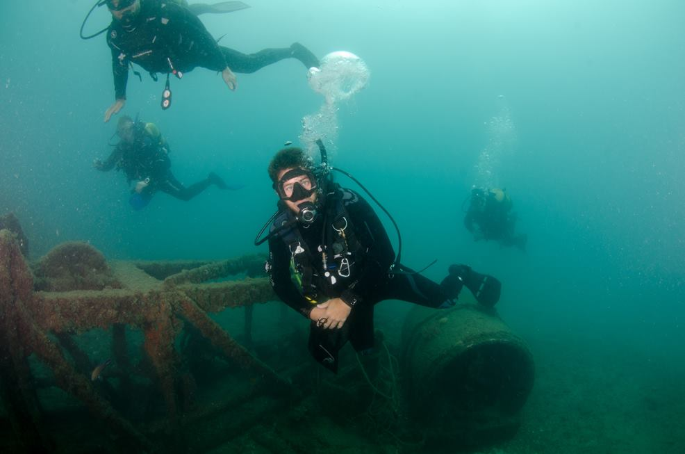 wreck diving in malaga