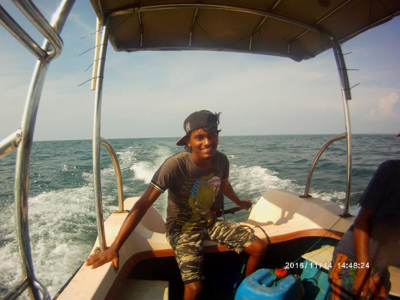 Young boatman